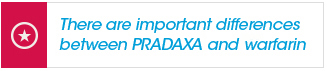 Important differences between PRADAXA and Warfarin